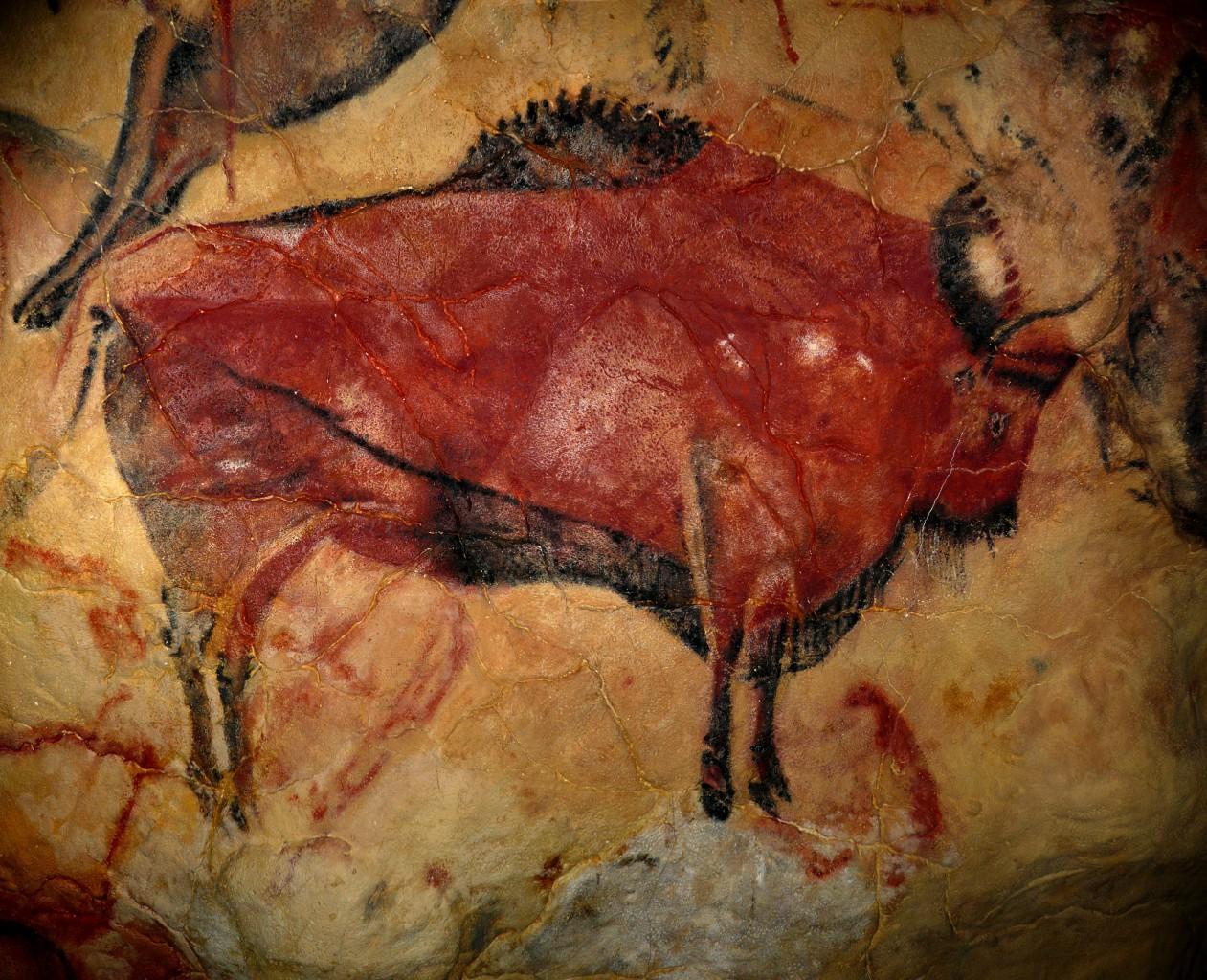Stein, Höhlenmalerei, Bison