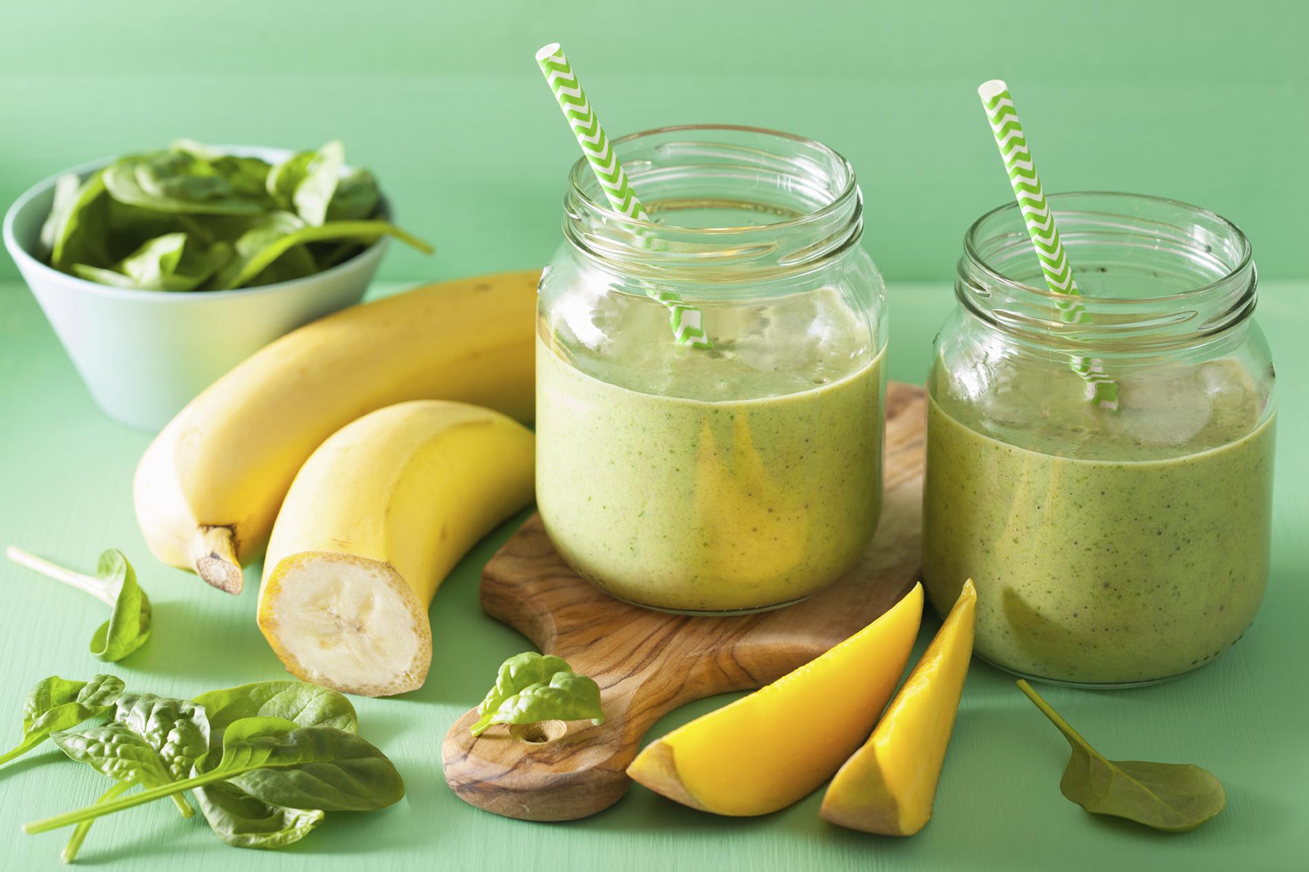 Banane Spinat Smoothie