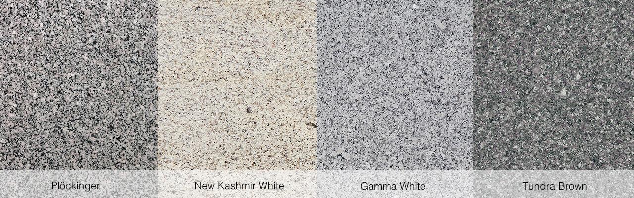 Plöckinger, New Kashmir White, Gamma White und Tundra Brown.