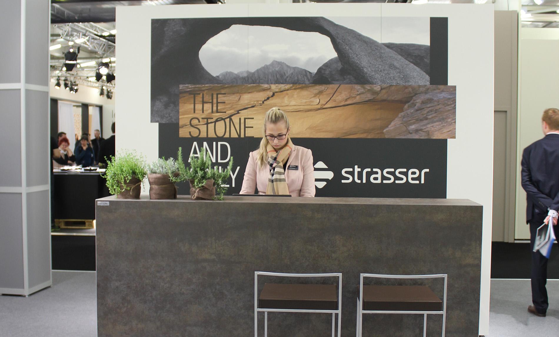 Strasser Steine auf der Küchenwohntrends 2016 in München