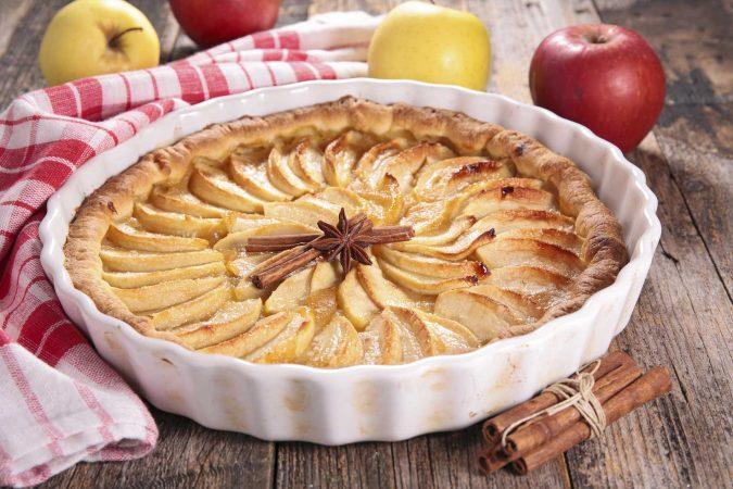 Frischer Apfelkuchen