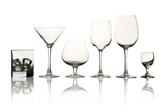 Unterschiedliche Gläser