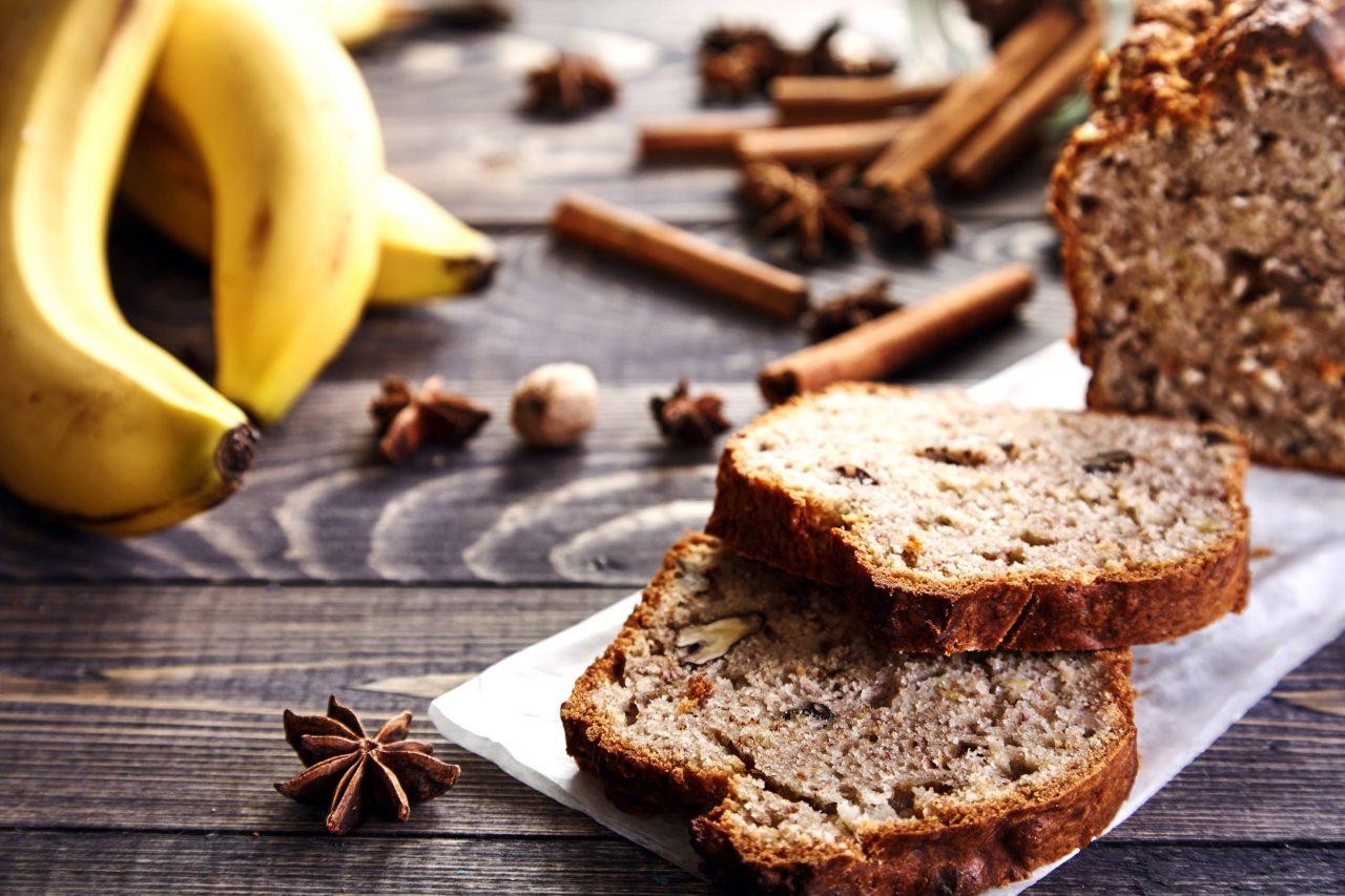 Aufgeschnittenes Banana Bread