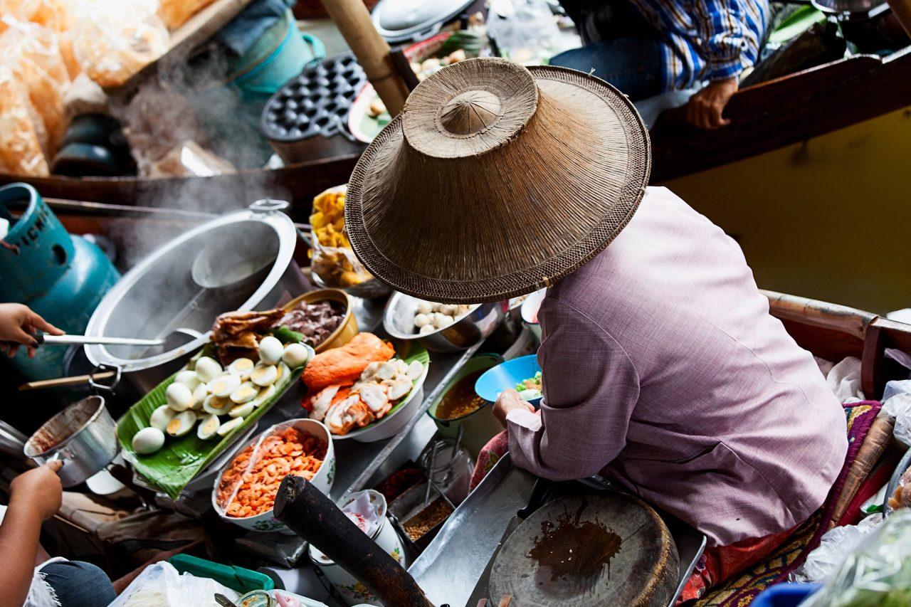 Wochenmarkt in Asien