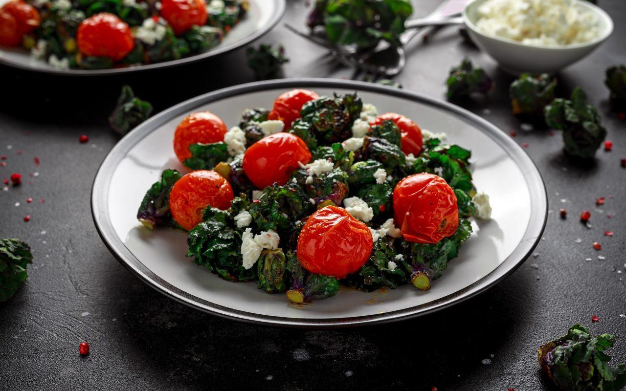 Flower-Sprout-Feta-Salat