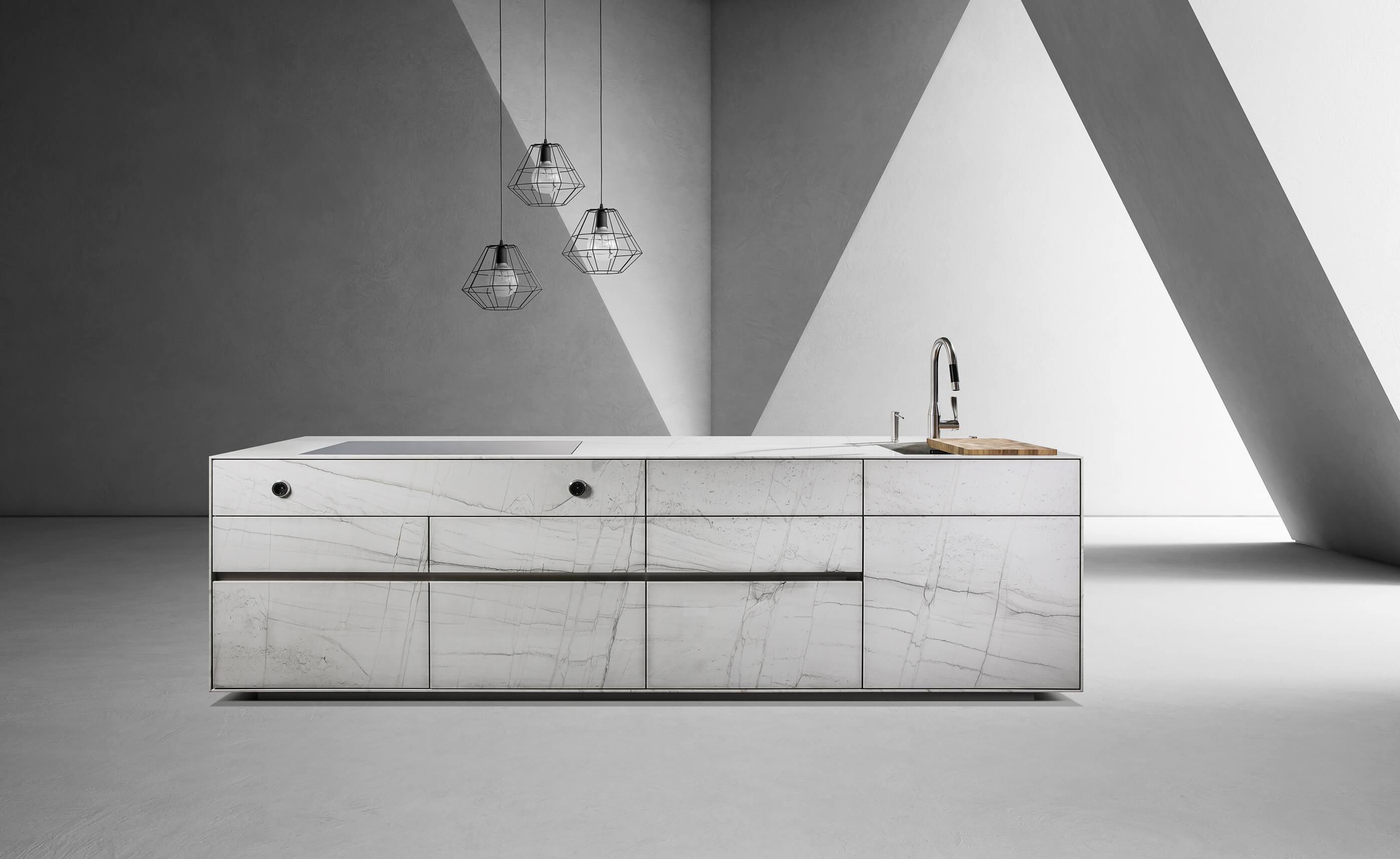 """ST-ONE-Kücheninsel in der Farbgebung """"Antarctic"""""""