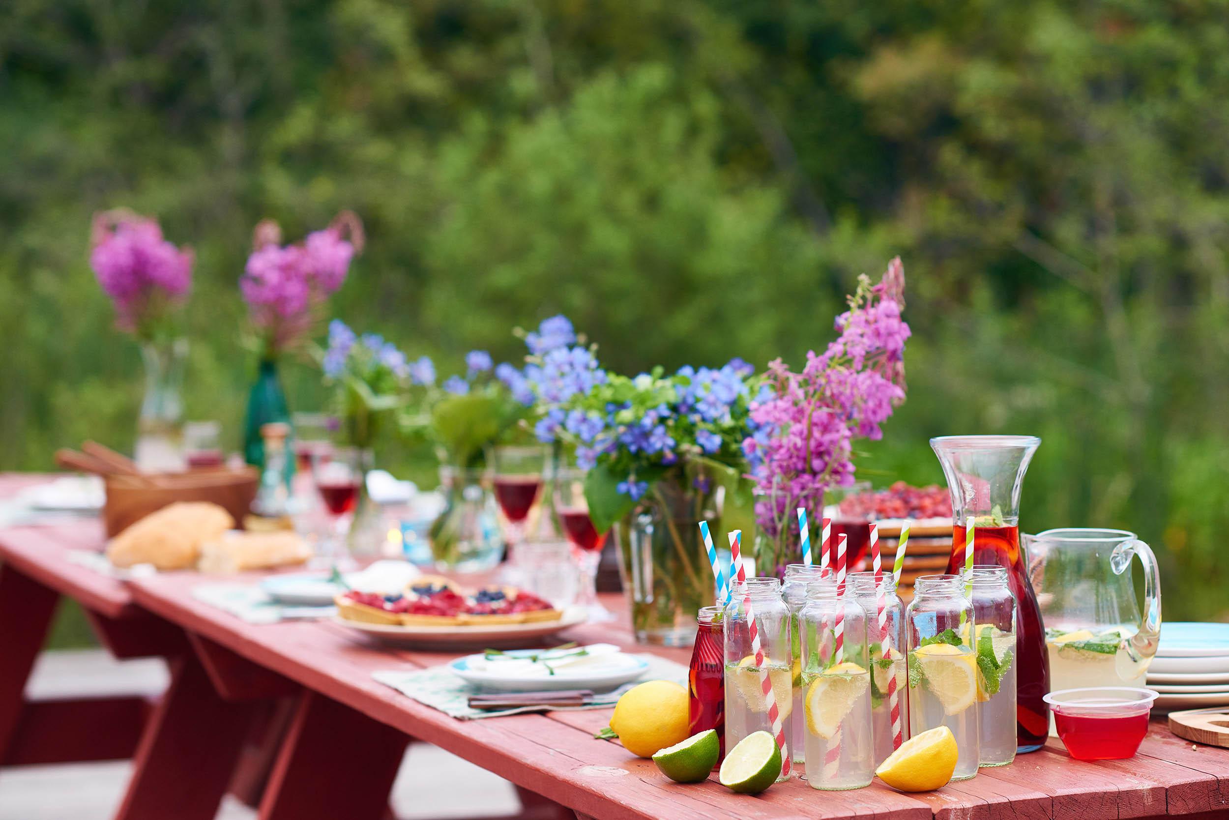 Picknick, Sommer, Gäste, Freunde, Dekorationen, Summer Fun, Grillen