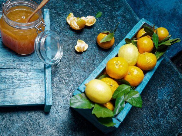 Selbstgemachte Mandarinen Marmelade