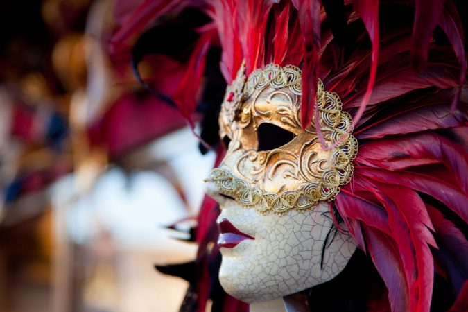 Maske beim Karneval in Venedig