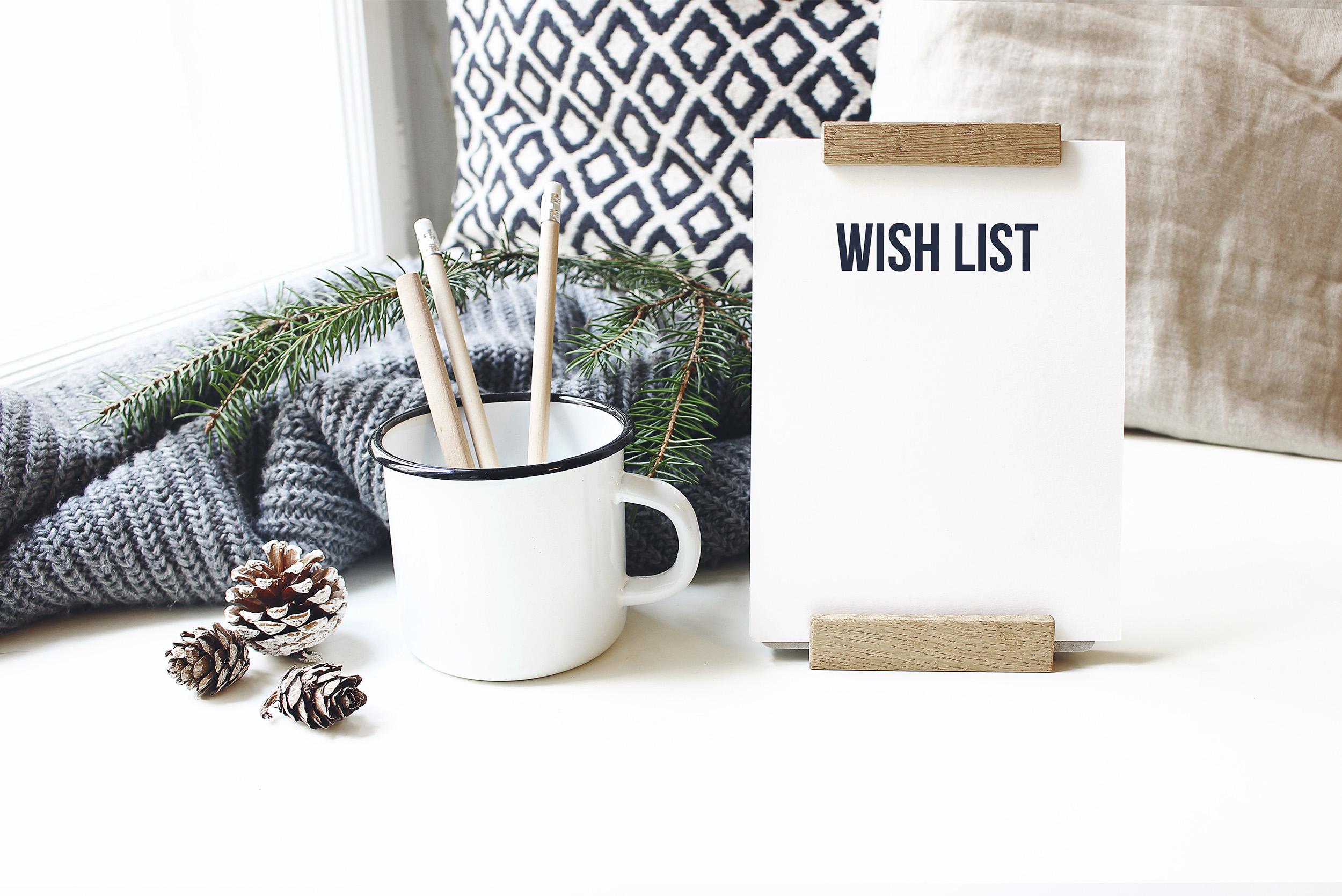 Liste der Wünsche für's neue Jahr