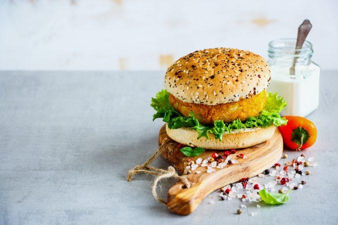 Burger mit Fleischalternative