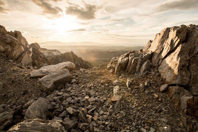 Felsformation in den Rocks Mountains