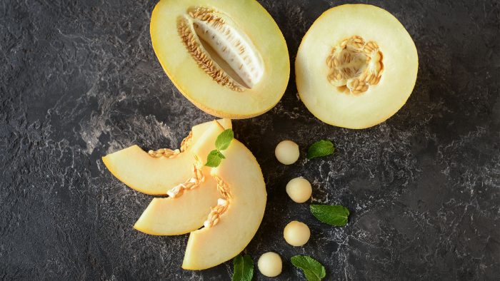 Aufgeschnittene Honigmelone