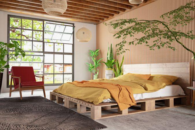 Schlafzimmer im natürlichen Stil
