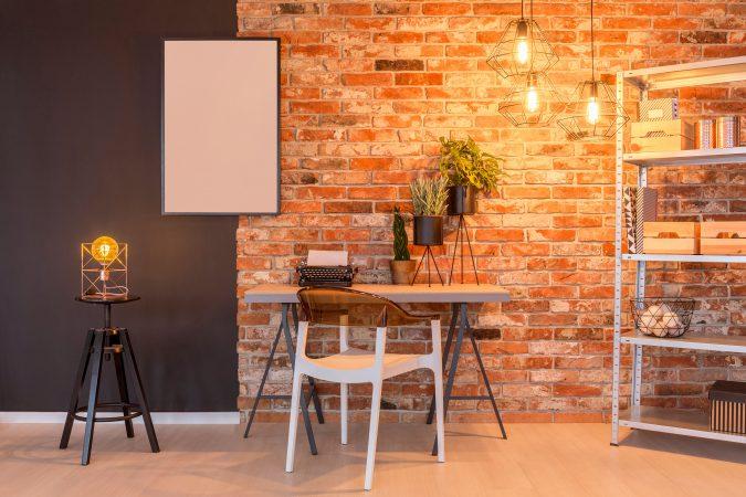 Modernes Apartment mit Edison Lampe