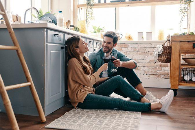 Küchenteppich mit Pärchen