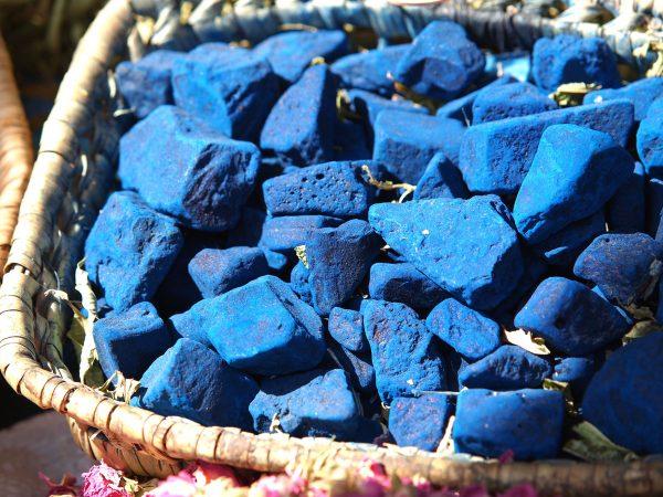 Indigo blaue Steine